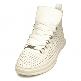 FI-2257 White Encore by Fiesso Sneaker Boot