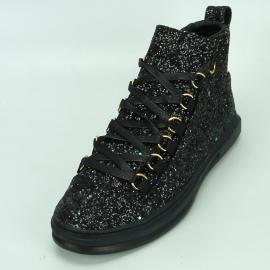FI-2174-2 Black Glitter Encore by Fiesso